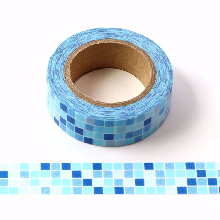 blue ceramic tile washi tape