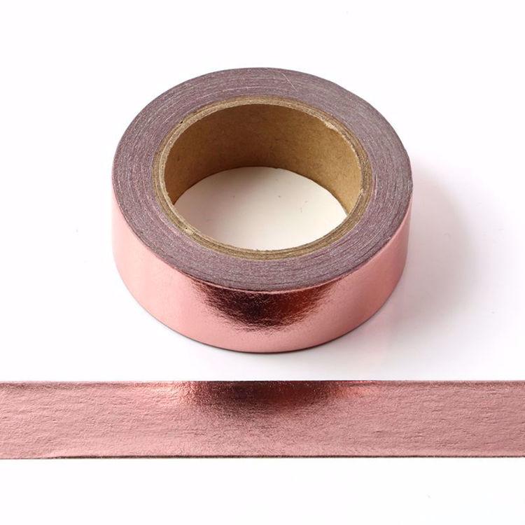 Solid Rose Gold Foil Washi Tape