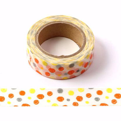 colorful dots washi tape