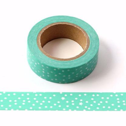 green snowflake washi tape