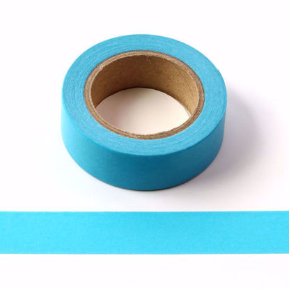 bright blue washi tape