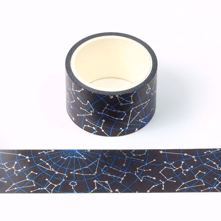 blue and silver foil constellation washi tape