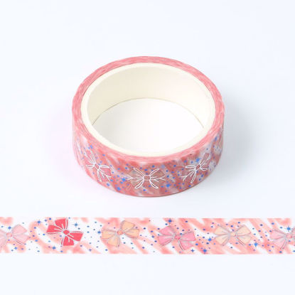 blue and silver foil bow-knot  washi tape