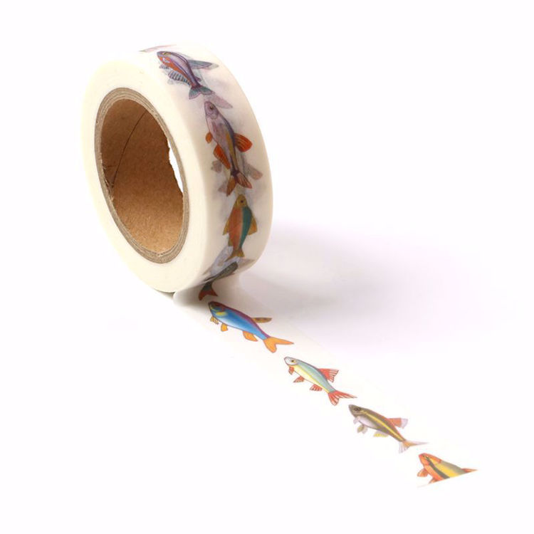 Fish printing washi tape