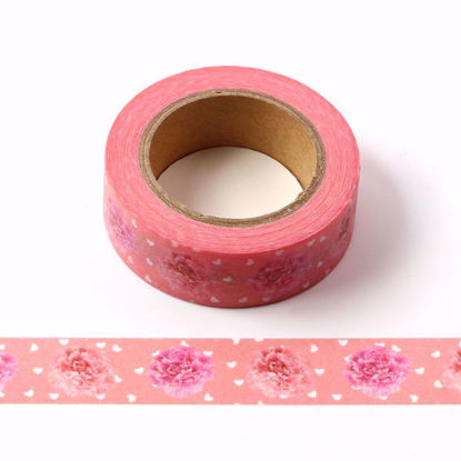 tissue flower  washi tape