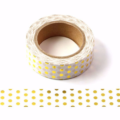 Picture of Polka Dot Foil Washi Tape