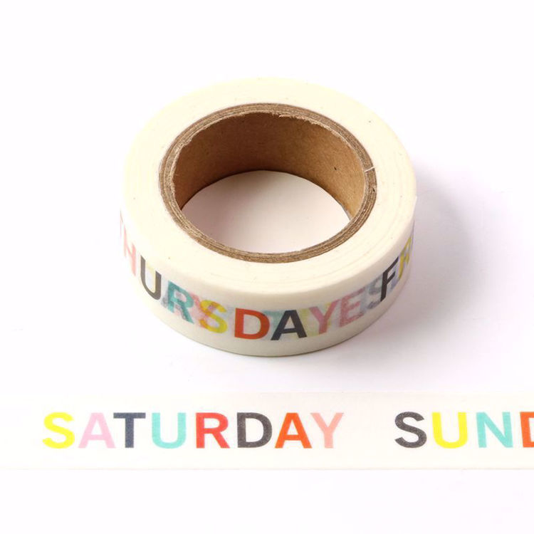 WORD show everyday of the Week washi tape