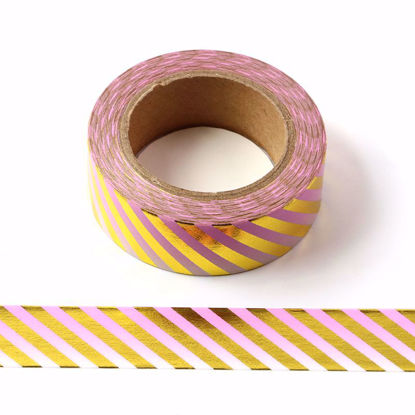 Picture of Ombre Pink Stripe Foil Washi Tape