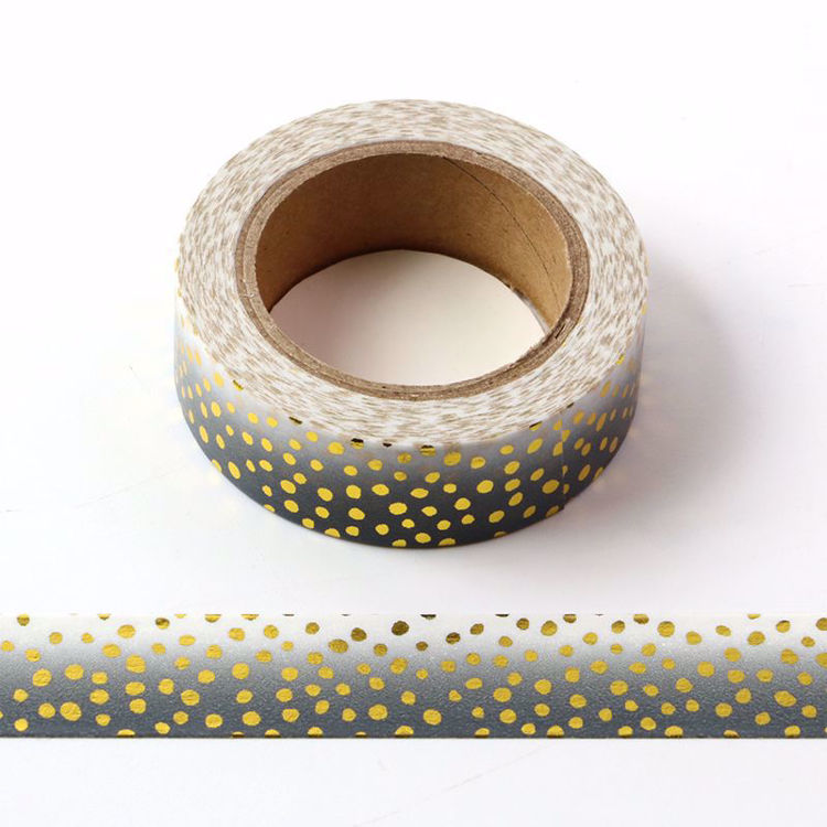 Picture of Ombre Black Dot Foil Washi Tape