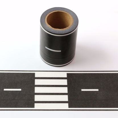 Picture of Road Printing Washi Tape Black