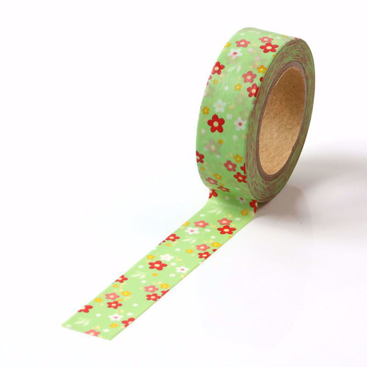 Picture of Little Flower Printing Washi Tape Green