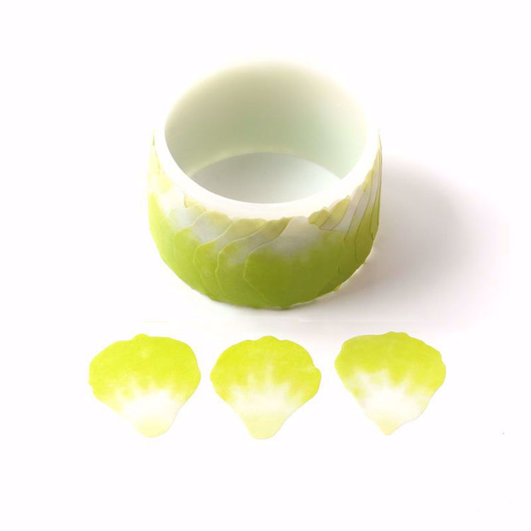 Green Petals stickers roll washi tape