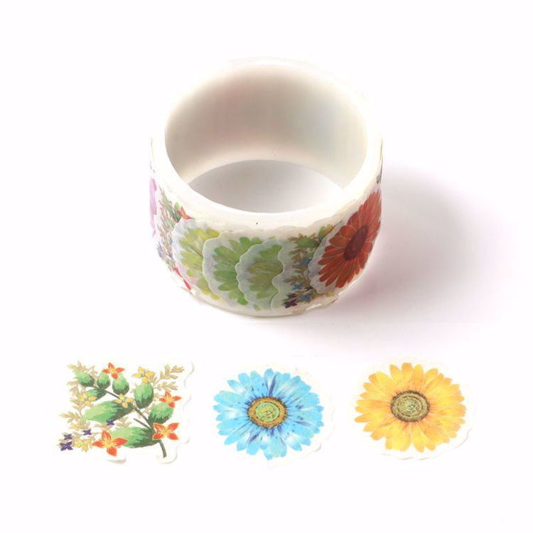 Many kinds of  flowers stickers roll washi tape