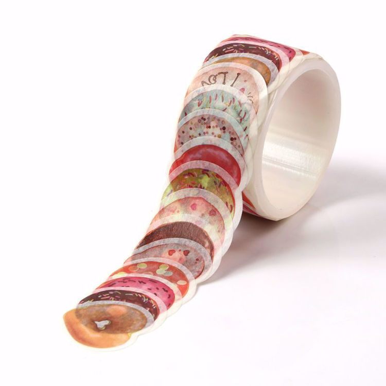 Many kinds of Doughnut stickers roll washi tape