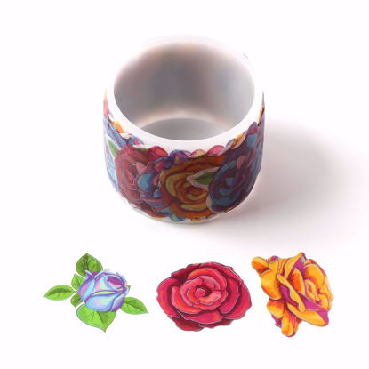 Many kinds of rose stickers roll washi tape