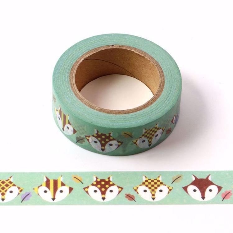 Cute fox printing washi tape
