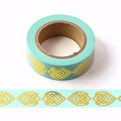 Fish Gold Foil Blue Washi Tape