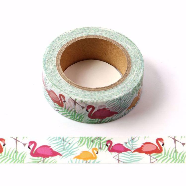 Flamingos zoo washi tape