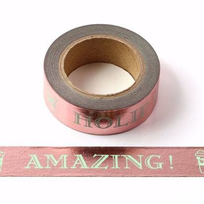 Happy Day Rose Gold Foil Washi Tape