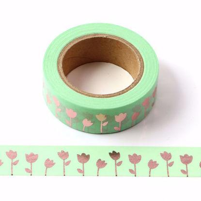 Rose Flower Rose Gold Foil Washi Tape