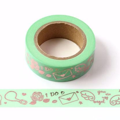 Fashion Rose Gold Foil Washi Tape