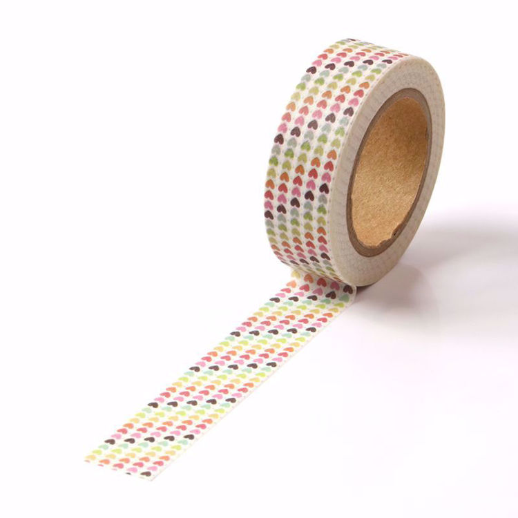 The gradient hearts washi tape