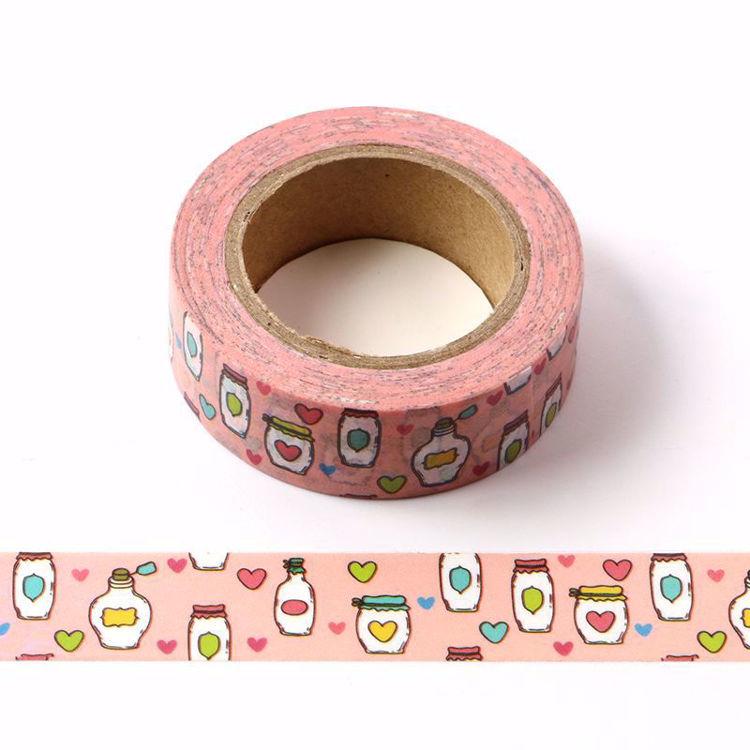 Love bottle printing washi tape