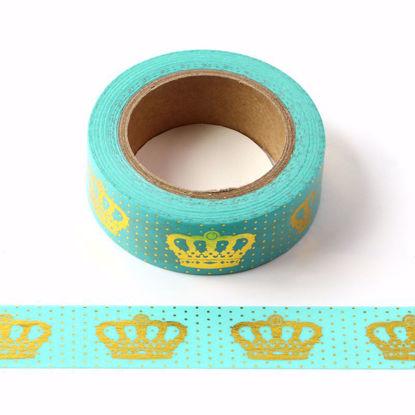 Crown Gold Foil Blue Washi Tape