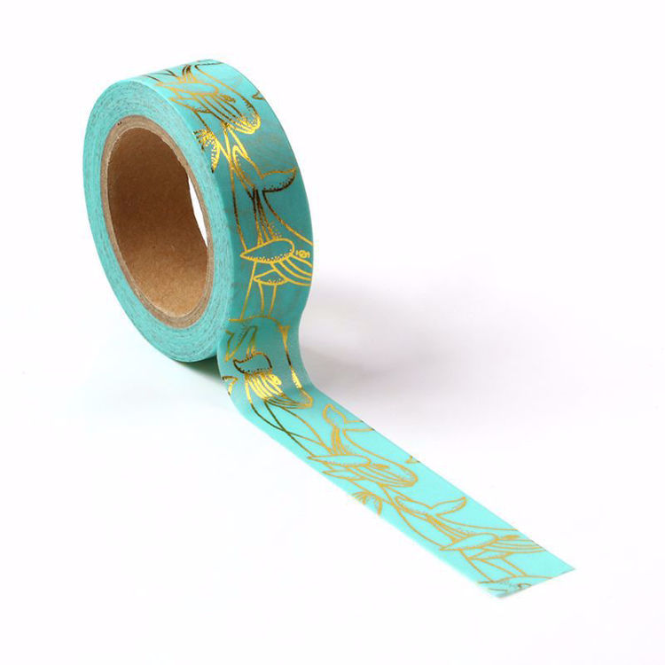 Dolphin Gold Foil Blue Washi Tape