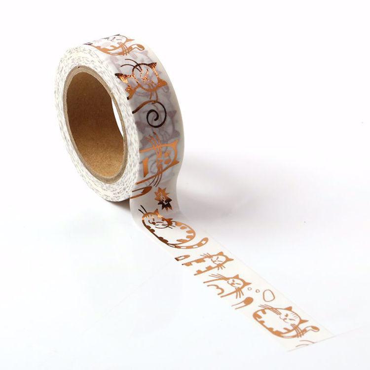 Fat Cat Copper Foil Washi Tape