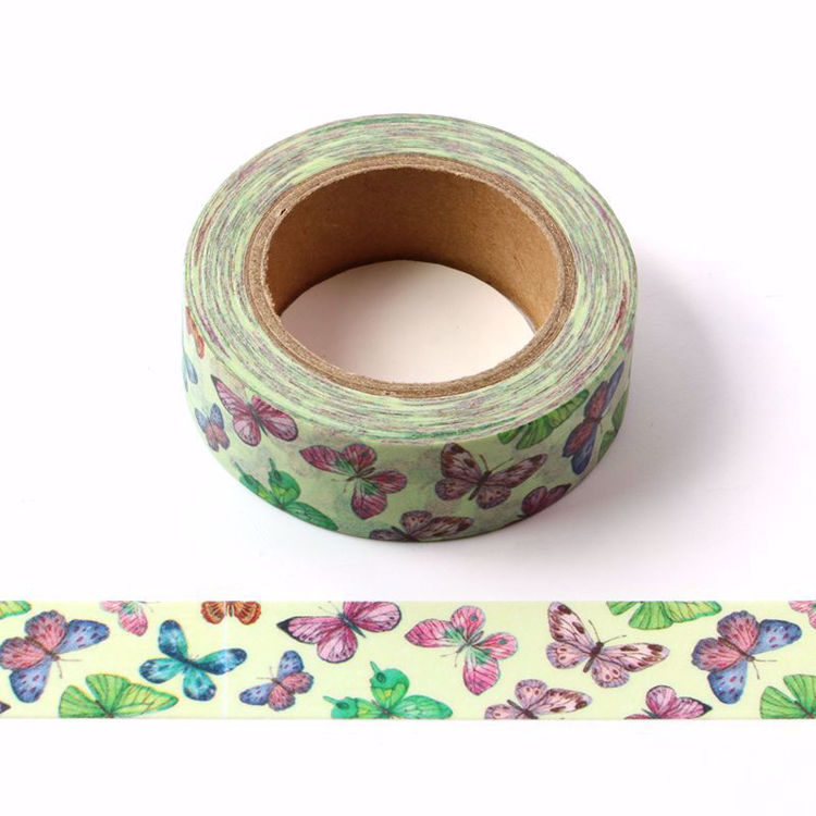 Purple butterfly printing washi tape