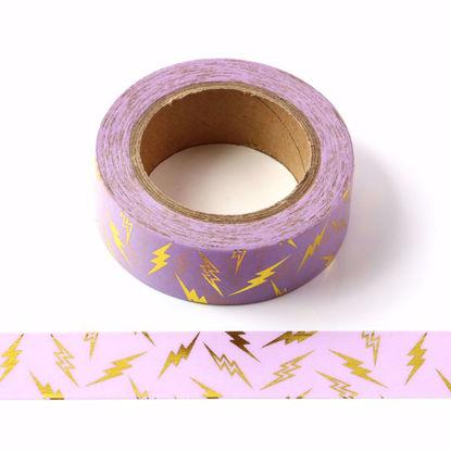 Lightning Gold Foil Purple Washi Tape