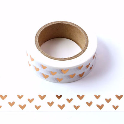 Hearts Copper Foil Washi Tape