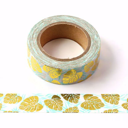 Leaves Gold Foil Washi Tape