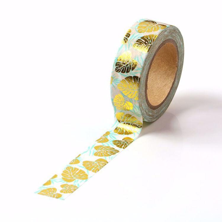 Leaves Gold Foil Washi Tape