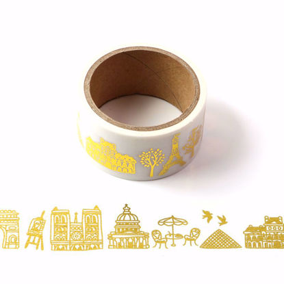 Eiffel Tower Gold Foil Washi Tape