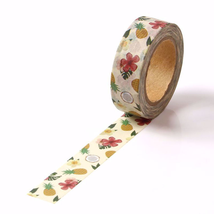 Ananas flowers printing washi tape