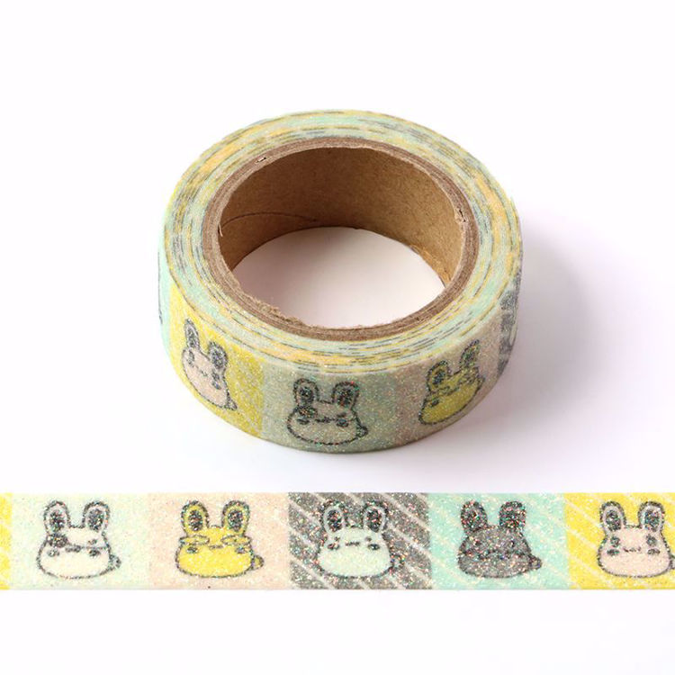Picture of Multicolored Bunnies Sparkle Washi Tape