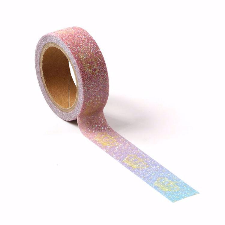 图片 皇冠印刷撒粉和纸胶带