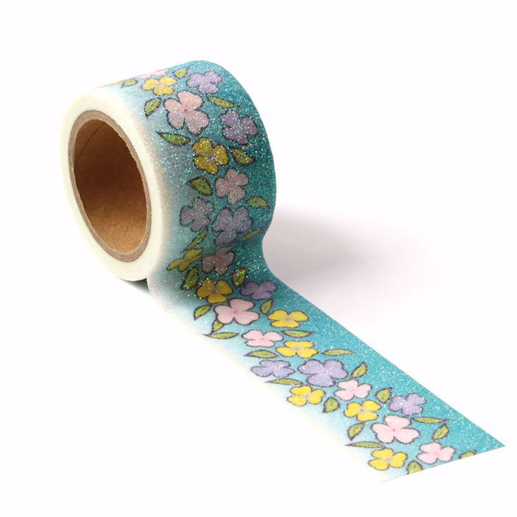 Picture of Contracted Flowers Sparkle Washi Tape