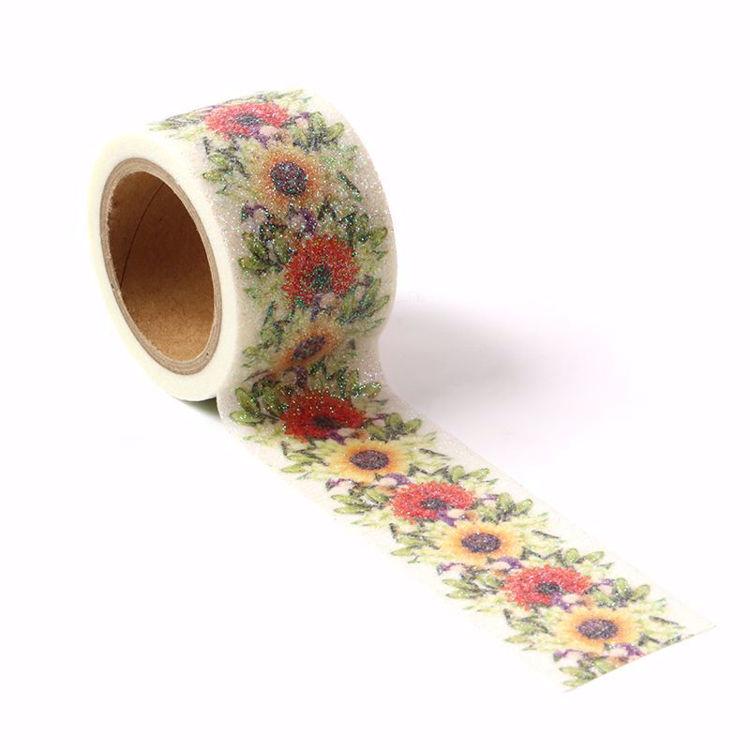 图片 花藤图案印刷撒粉和纸胶带