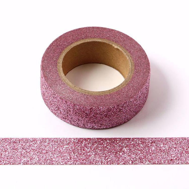 图片 粉紫色撒粉和纸胶带