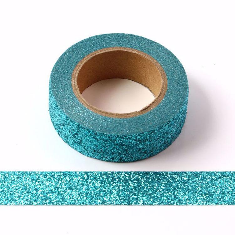 图片 湖蓝色撒粉和纸胶带