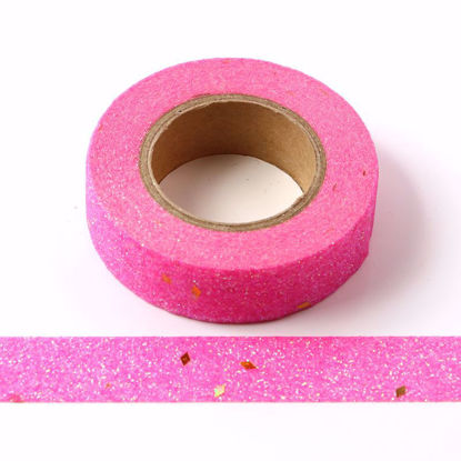 Picture of Pink+gold dots Sparkle Washi Tape