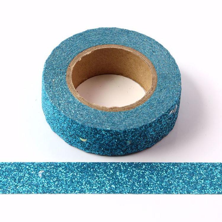图片 深蓝色银点撒粉和纸胶带