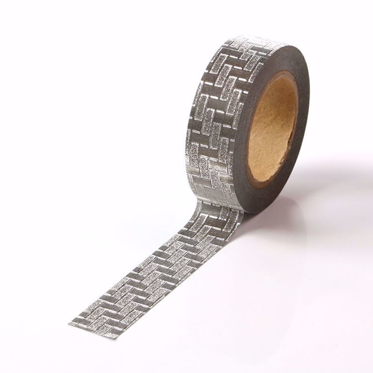 Picture of Silver Woven Glitter Tape