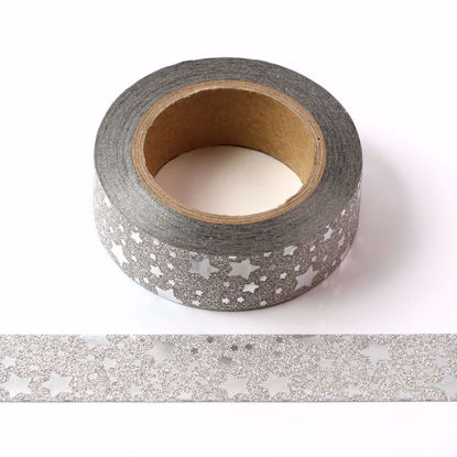 Picture of Silver Star Glitter Tape