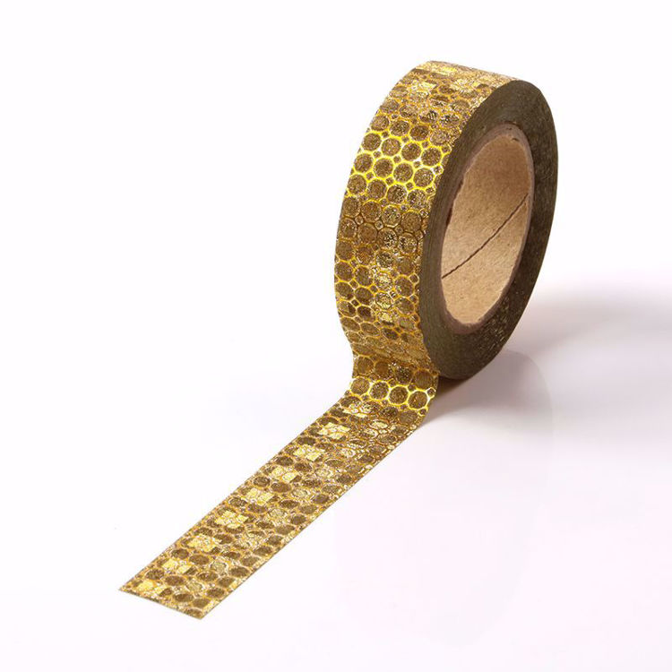 Picture of Golden Honeycomb Glitter Tape