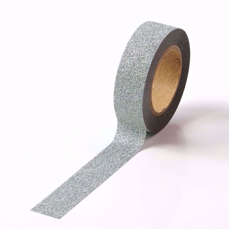 Picture of Green Silver Glitter Tape