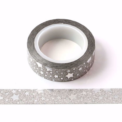Picture of 12.54mm Silver Glitter Tape